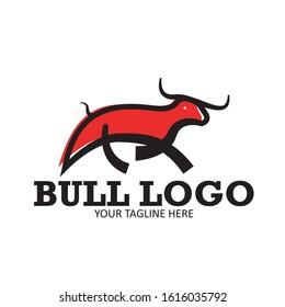 bull outline logo vector illustration