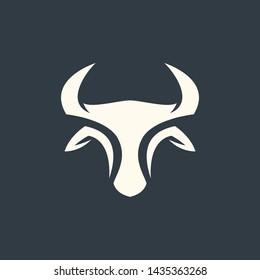 bull simple illustration vector logo