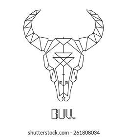 bull skull, cow skull vector