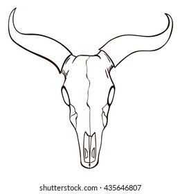 steer head images stock photos vectors shutterstock Steer Horn Tattoo bull skull sketch