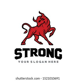 BULL, Strong Bull Logo Vector