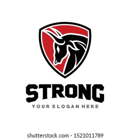 BULL, Strong Bull Secure and Protect Logo Vector