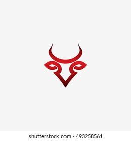 Bull symbol - vector illustration