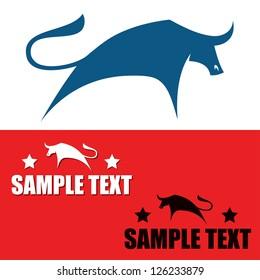 Bull symbols - vector illustration