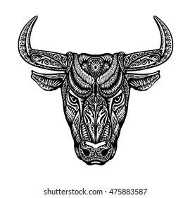 Taurus Tattoo Images, Stock Photos & Vectors | Shutterstock