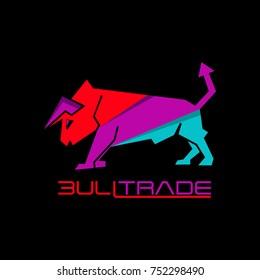 bull trade arrow business logo