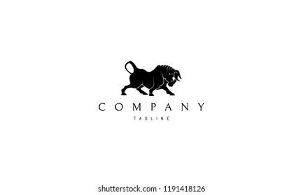 Bull vector logo image