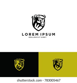 bull vintage logo concepts download template