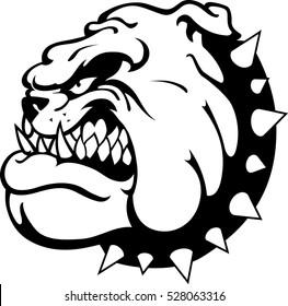 Bulldog Angry Mascot