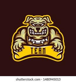 Bulldog Animals Esports Logo Badge designs