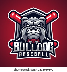 Bulldog baseball esport mascot logo