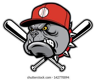 bulldog as a baseball mascot
