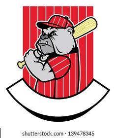 bulldog baseball player