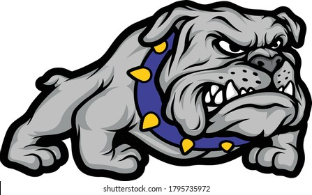 BULLDOG CARTOON ILLUSTRATION VECTOR DESIGN