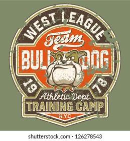 Bulldog football team - Grunge effect in separate layer