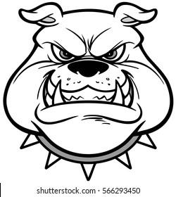 Bulldog Growl Illustration
