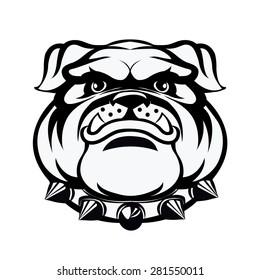 Bulldog head.-vector illustration