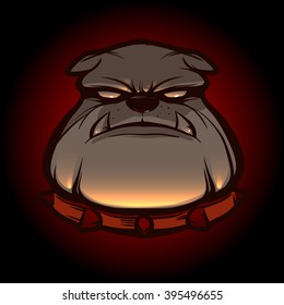 bulldog for logo, symbol, simple illustration, sport team emblem, mascot, design element and label, security idea, vector