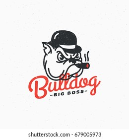 Bulldog logo template design. Vector illustration.