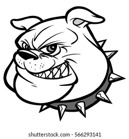 Bulldog Mascot Head Illustration