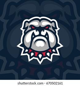 Bulldog mascot logo design. Sport logotype illustration. Eps10 vector.