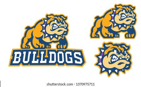 Bulldog Mascot Sport Logo in Vector Illustration