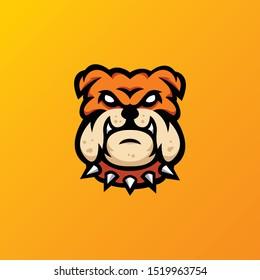 bulldog mmascot logo illustration. esport bulldog logo.