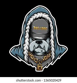 bulldog Rap vector illustration