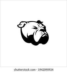 Bulldog Symbol Logo. Tattoo Design. Vector Illustration.