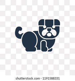 Bulldog vector icon isolated on transparent background, Bulldog transparency concept can be used web and mobile