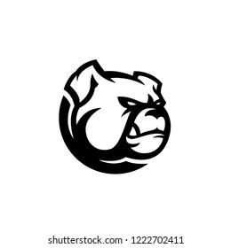 bulldog vector logo mascot template