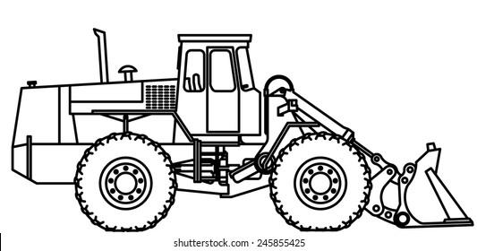 Excavator Parts Stock Vectors, Images & Vector Art