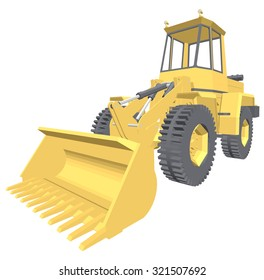 Bulldozer 3D projection vector.