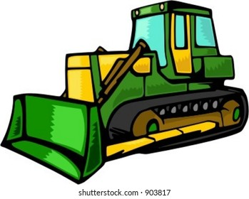 Bulldozer.Vector illustration