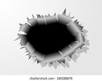 Bullet Hole Metal vector