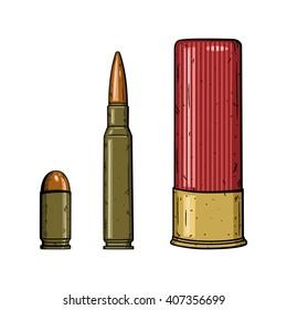 Bullet set isolated on white background. Vector illustration