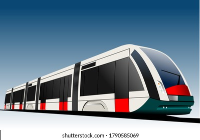 Bullet train. Vector 3d illustration