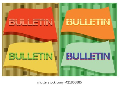 Bulletin abstract symbol. Graphical representation of a specific thematic nature in the accompanying text.