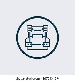 bulletproof vest icon in trendy design style. bulletproof vest icon isolated on white background. bulletproof vest vector icon simple and modern flat symbol for web site, mobile, logo, app