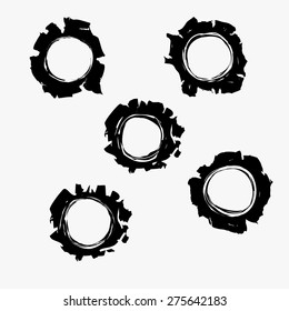 Bullets holes in background. Bullet holes Damage, Bullet hole set, Bulletholes vector illustration