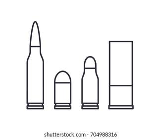 bullets on white vector illustration