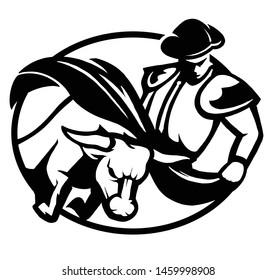 Bullfighter matador logo vector template