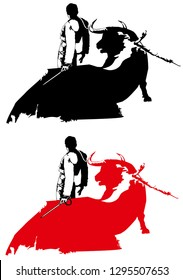 bullfighting illustration signs