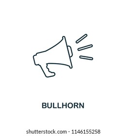 Bullhorn creative icon. Simple element illustration. Bullhorn concept symbol design from seo collection. Perfect for web design, apps, software, print