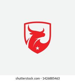 bulls logo design, bulls logo, icon, bull, cow