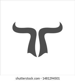 Bulls Logo Vector. Buffalo Head Icon.