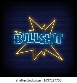 Bullshit Neon Signs Style Text Vector