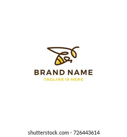 bumble bee logo template vector illustration
