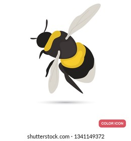 Bumblebee color flat icon for web and mobile design