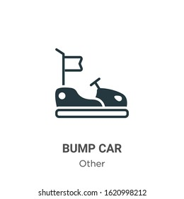 Bump car glyph icon vector on white background. Flat vector bump car icon symbol sign from modern other collection for mobile concept and web apps design.